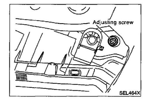 service manual  how to ajust headlight beam 2002 infiniti