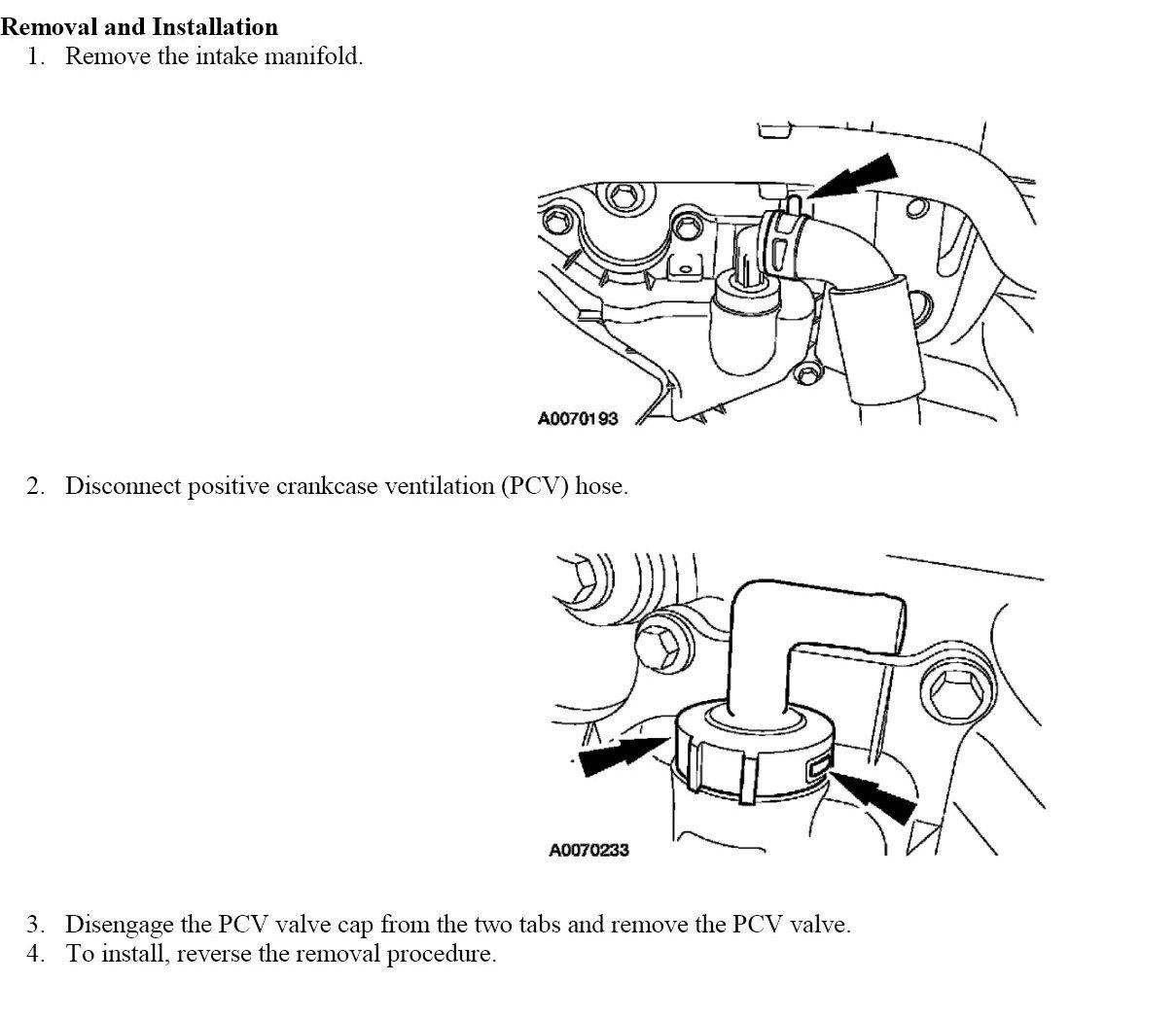 pcv valve location pictures - photo #11