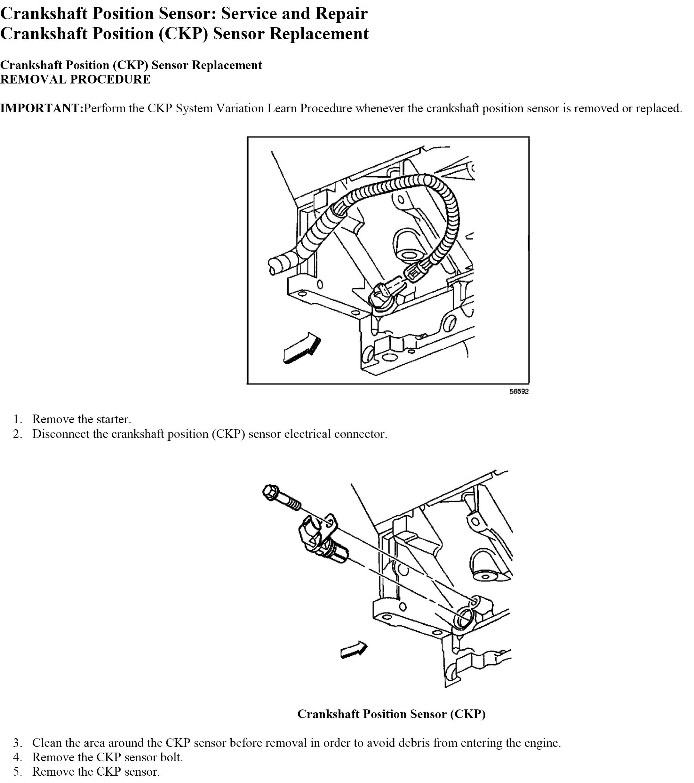 03 GMC Sierra 2500 6.0 Gas Needs Crankshaft Position