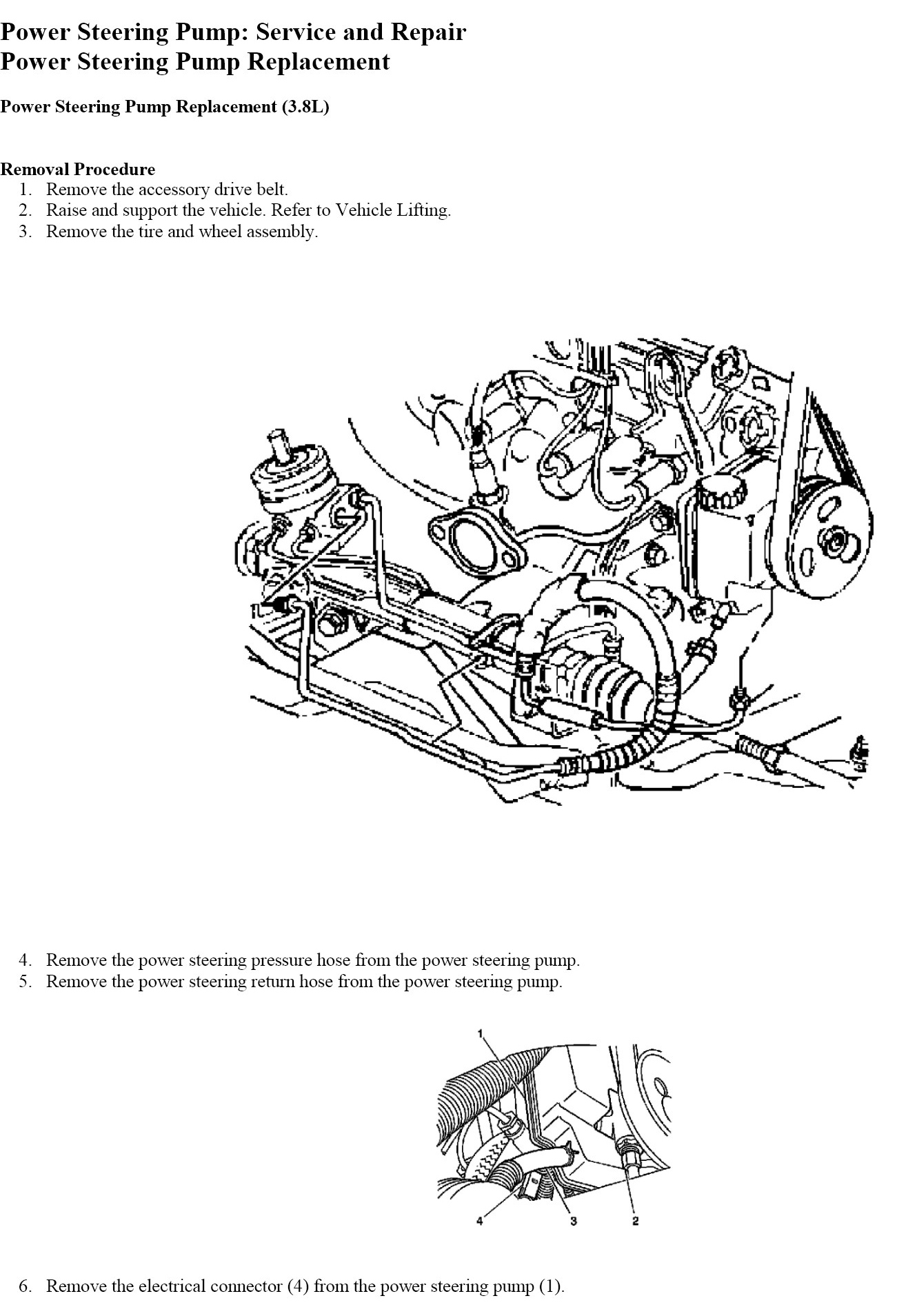 how to replace power steering pump on a buick lacrosse cx graphic