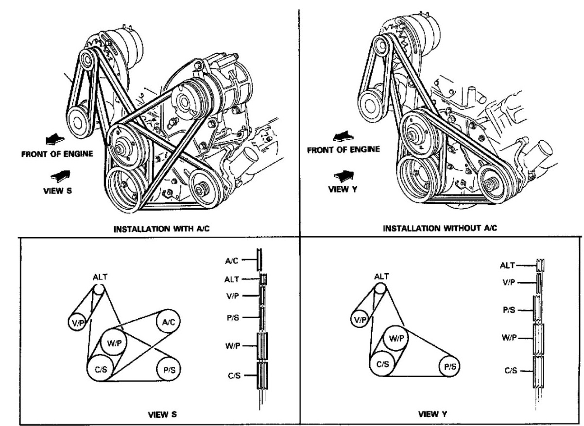 I Need A Belt Diagram For A 1985 Ford F250 6 9l Diesel