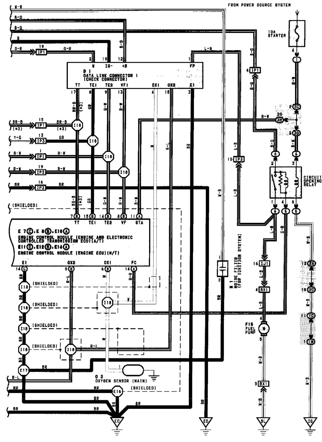 1994 toyota camry i check the fuel pump wiring graphic