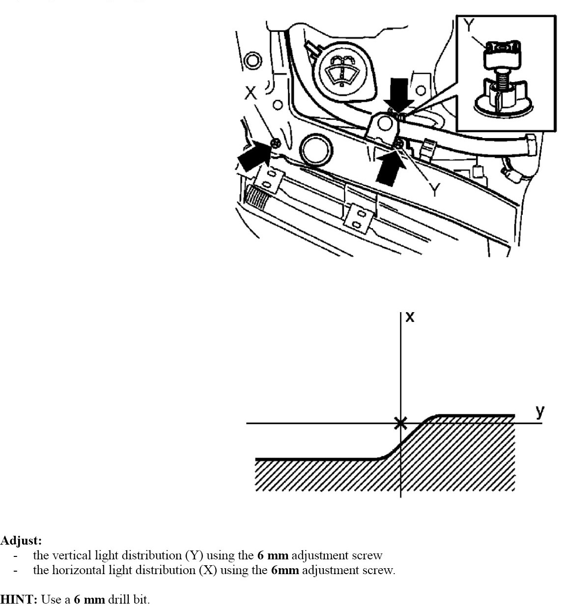service manual  how to adjust the headlights on a 2002