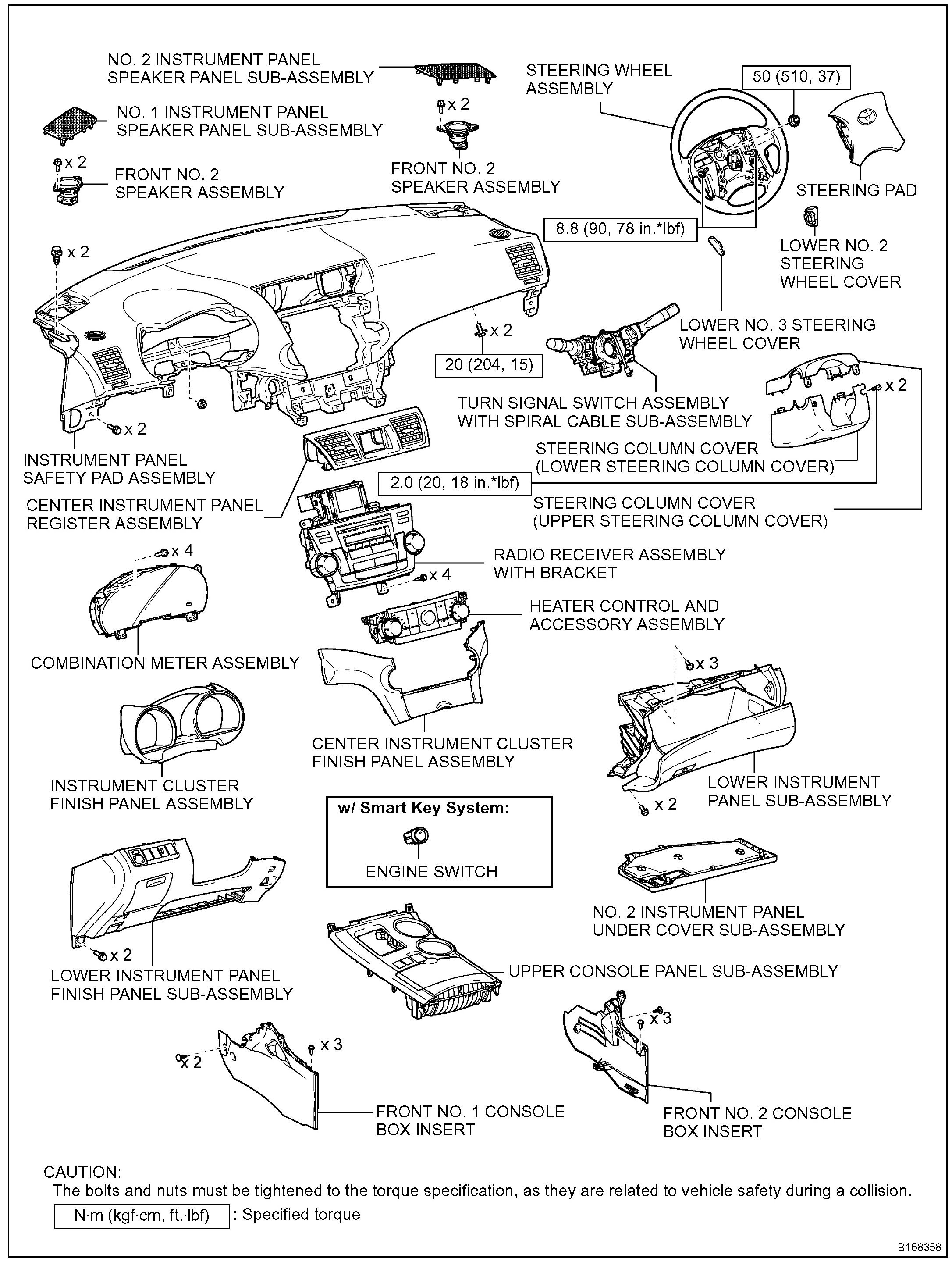 toyota highlander seats diagram