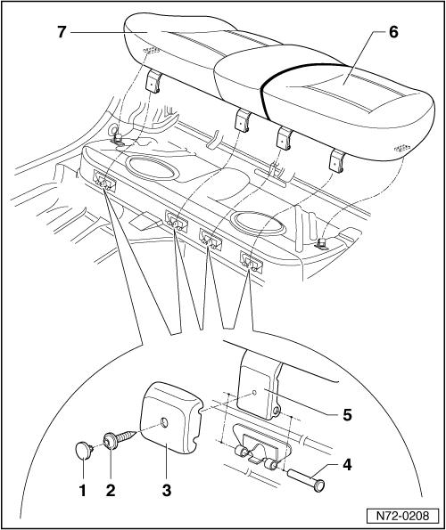 seat catch lever