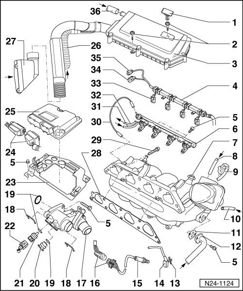 RepairGuideContent furthermore 1 8t Sai N249 Pcv Evap Delete Thread 53800 together with 97 Chevy Engine Diagram 3 1 Liter likewise 2040cars    content cars images 15 509115 002 moreover Vw Golf Mk4 Gti Engine Schematic. on vw jetta tdi engine intake