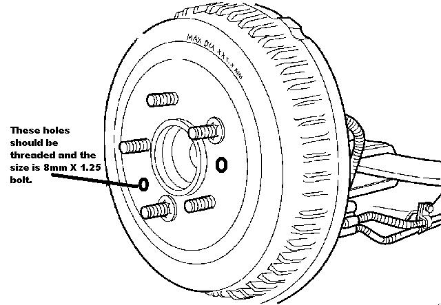 how do i remove the brake drums from my  u0026 39 97 chrysler town