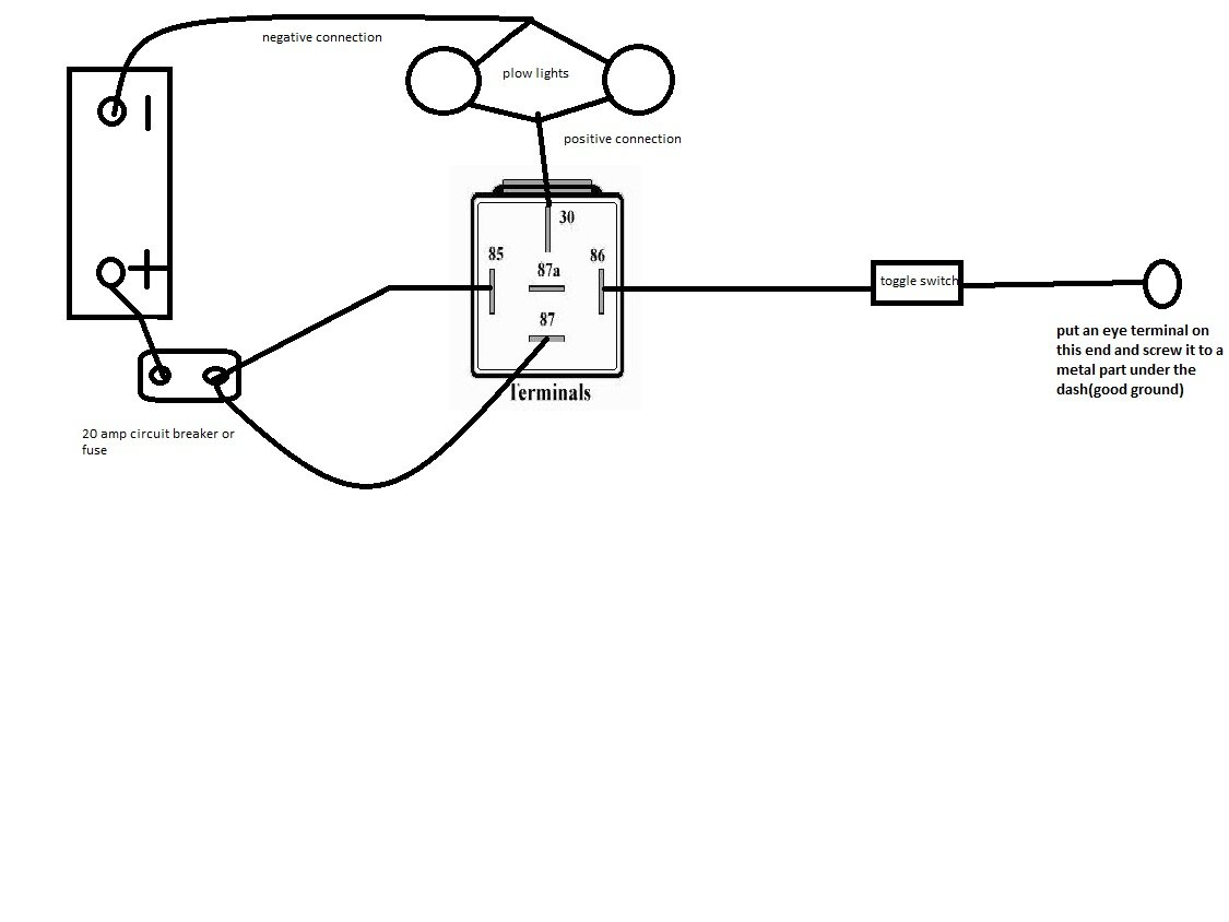 western snow plow solenoid wiring diagram relay