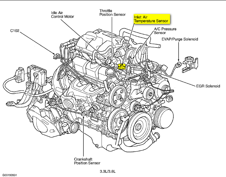 where is the iat sensor located on a 2000 dodge grand ... 1997 dodge caravan engine diagram
