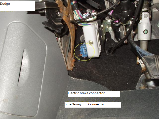 dodge ram 3500 4x4 my brake controller does not apply brakes this connector wires into your electric brake controller and then plugs directly into here