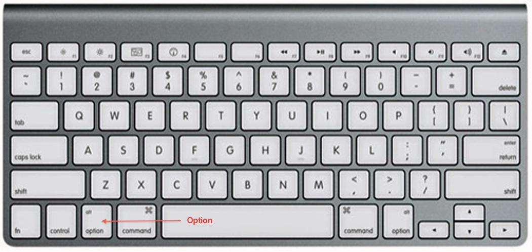 option key on keyboard macbook pro