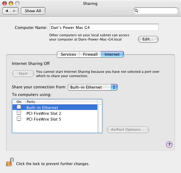 manually set ip address mac