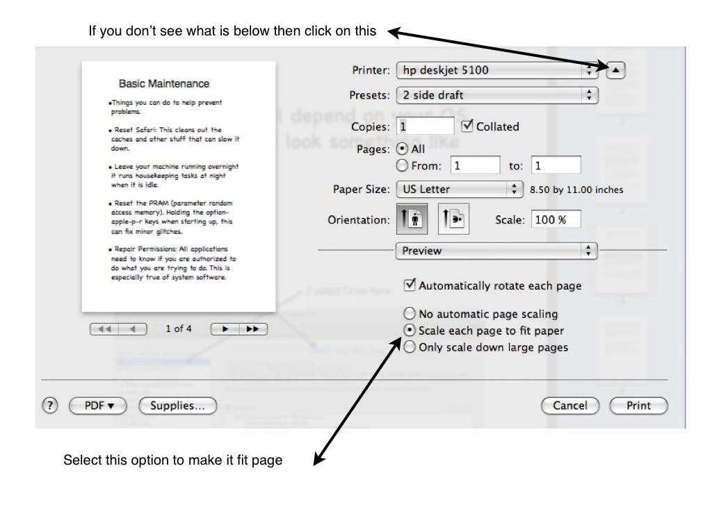 how do you print a pdf on a mac