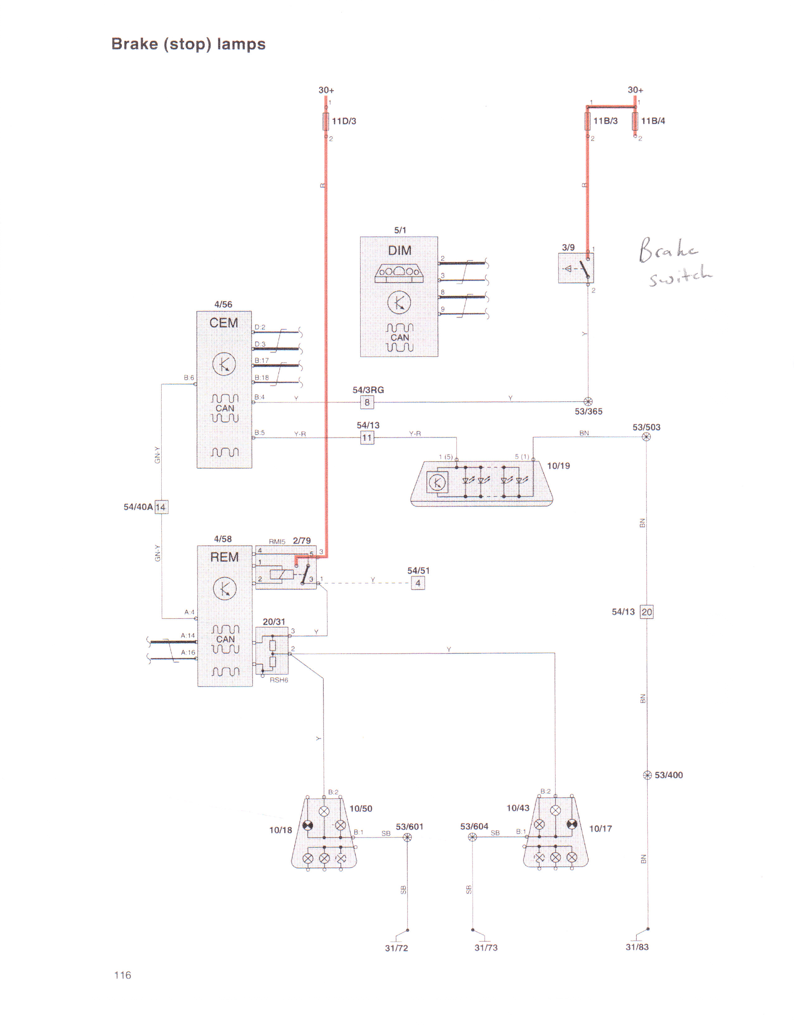 volvo xc90 brake light wiring diagram html
