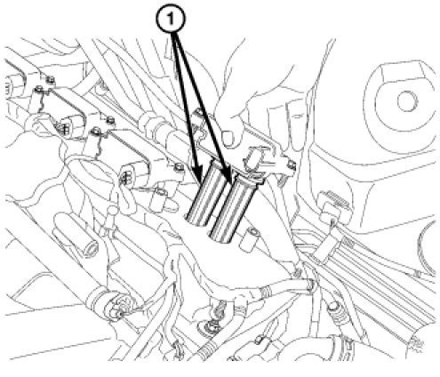 2007 chrysler sebring spark plugs location
