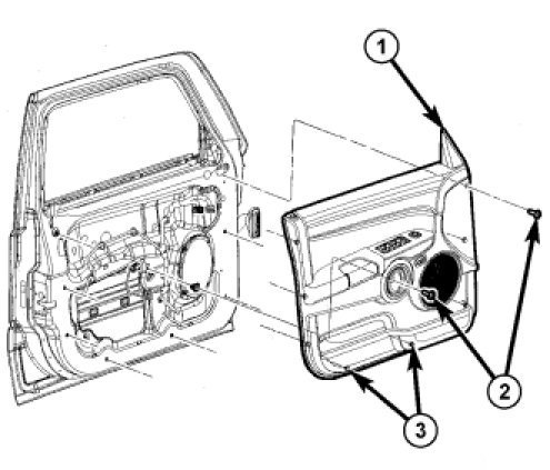 2007 Jeep Liberty Door Diagram