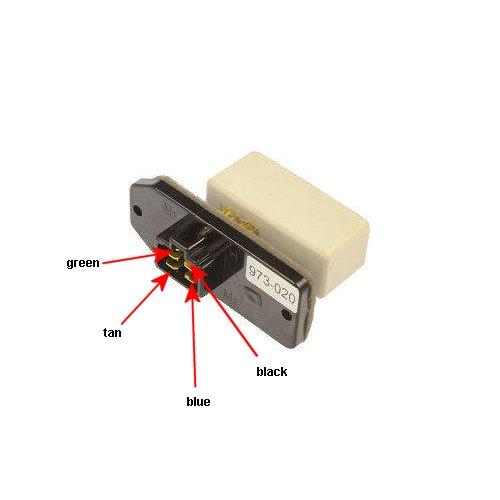 2001 Dodge Ram Blower Motor Resistor Wiring Black Blue
