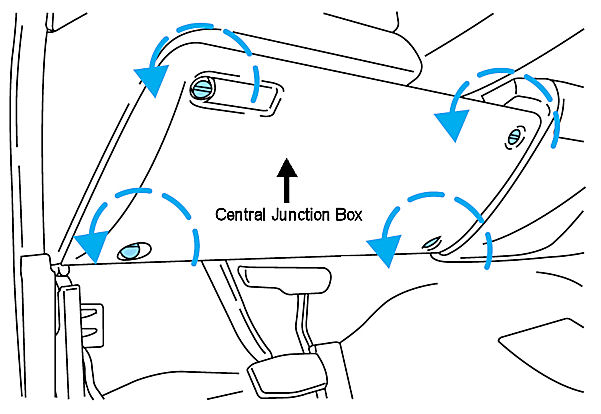 need a diagram of where the 2000 f250 horn and relay are