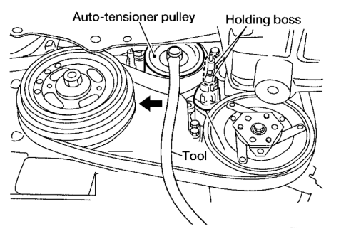 Replace Belt additionally 1993 Nissan Altima Alternator Wiring Diagrams besides Discussion T17876 ds494421 additionally T13097877 Belt diagram nissan x trail 2005 also 2002. on nissan altima serpentine belt diagram