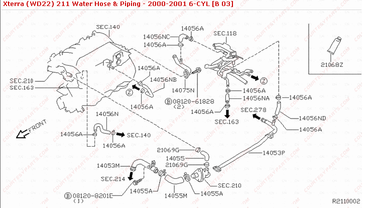 2001 nissan frontier parts diagram