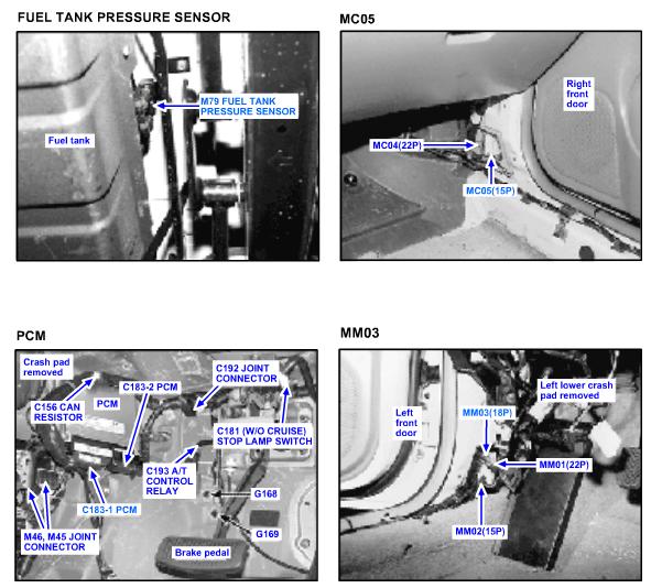 2001 Hyundai Elantra: evapdrovethe check engine light came