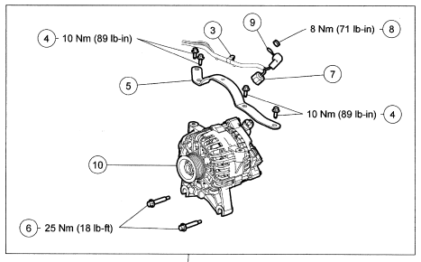 ford f engine alternator the belt loose bolt pattern graphic