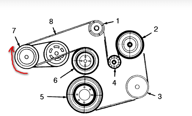 95 mercury i find the diagram serpentine belt