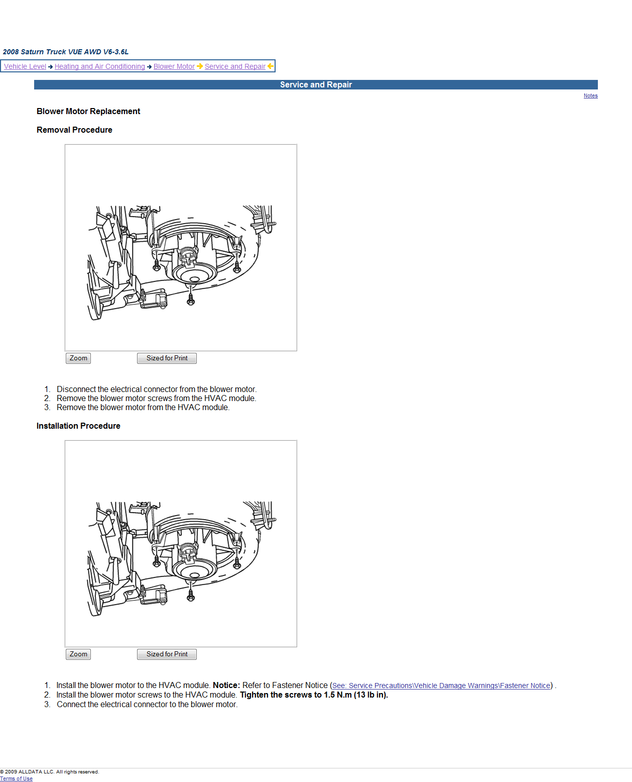 service manual  2009 saturn aura how to remove evaporator