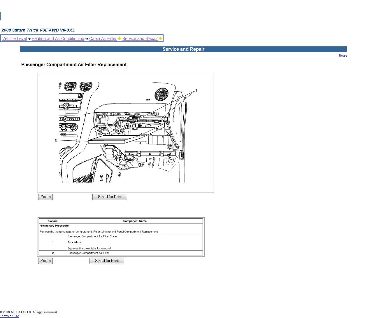 [2009 Saturn Vue Blower Motor Removal] - Service Manual ...