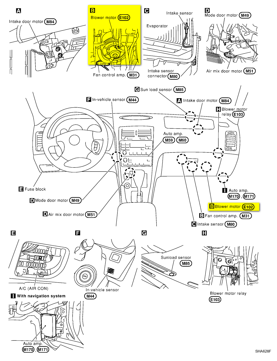VW Jetta Wiring Diagram further Car Air Conditioning And Heating System as well 2001 Chevy Transmission Diagrams in addition 2002 Ford Focus ZX5 also Daewoo Lanos. on 2001 sentra blower motor resistor replacement