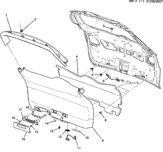 service manual  1989 buick lesabre liftgate panel removal