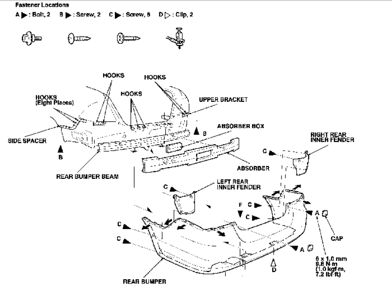 2003 honda odyssey tail light diagram html
