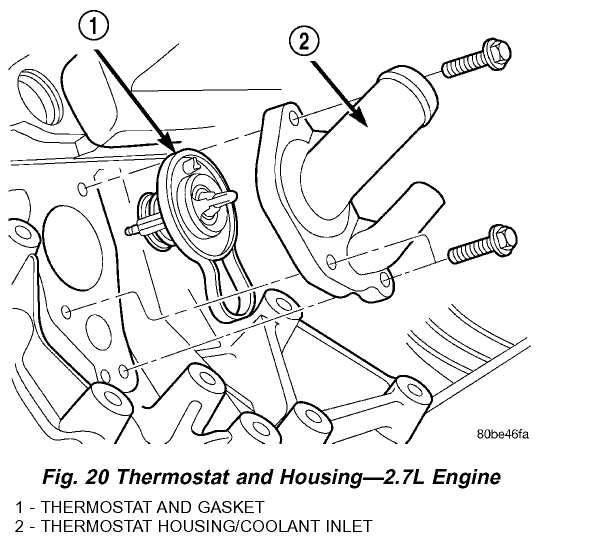 dodge intrepid 2 7 engine diagram thermostat location