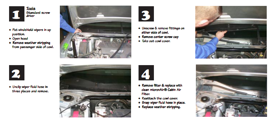 chevrolet envoy cabin air filter location  chevrolet  get