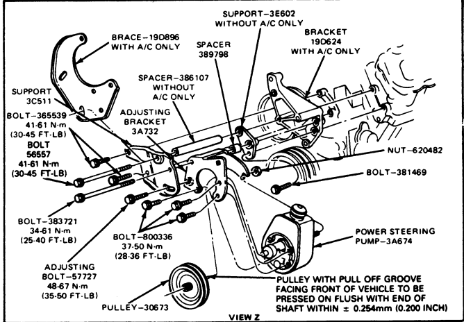ford excursion power steering pump diagram  ford  free