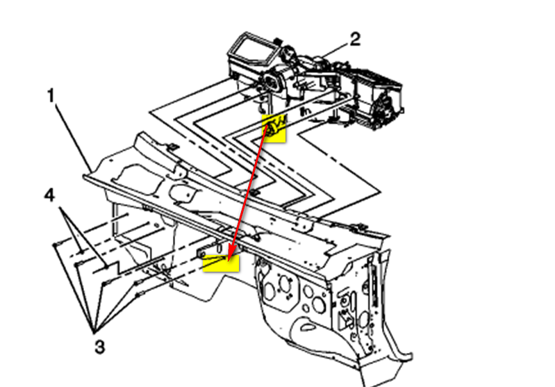 2012 cadillac escalade blower motor resistor location