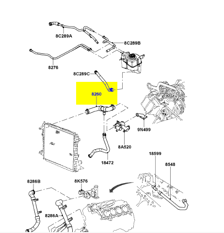 4627y 2001 Lincoln Ls Housing Heads The Diagram Cooling System