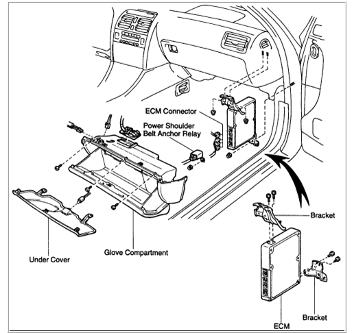how to remove glovebox on a 1989 buick skylark