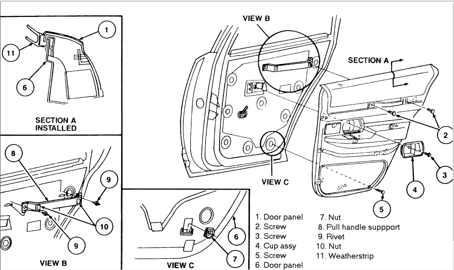 service manual  1997 mercury grand marquis how to remove window handle crank