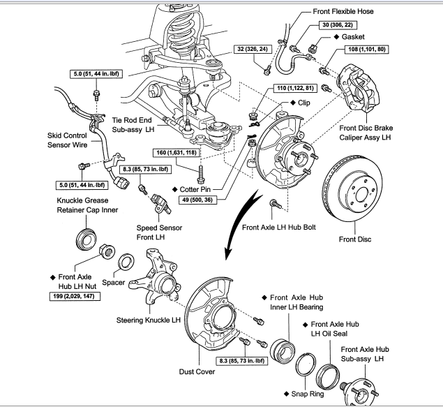 tacoma front suspension diagram  tacoma  free engine image