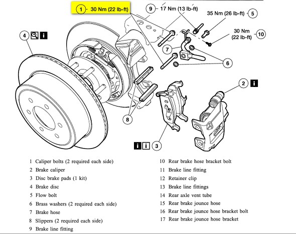ford f 150 rear brakes diagram