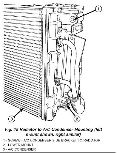 2001 chrysler town  u0026 country  3 8l  bolts  screws  radiator