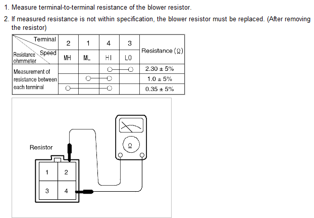 How can i test my blower motor resistor 28 images part for How to test blower motor resistor