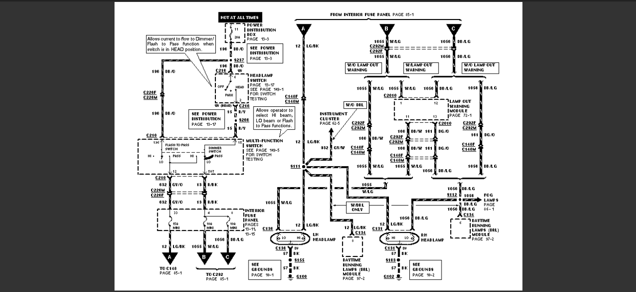 1997 mercury mountaineer radio wiring diagram 1997 free engine image for user manual