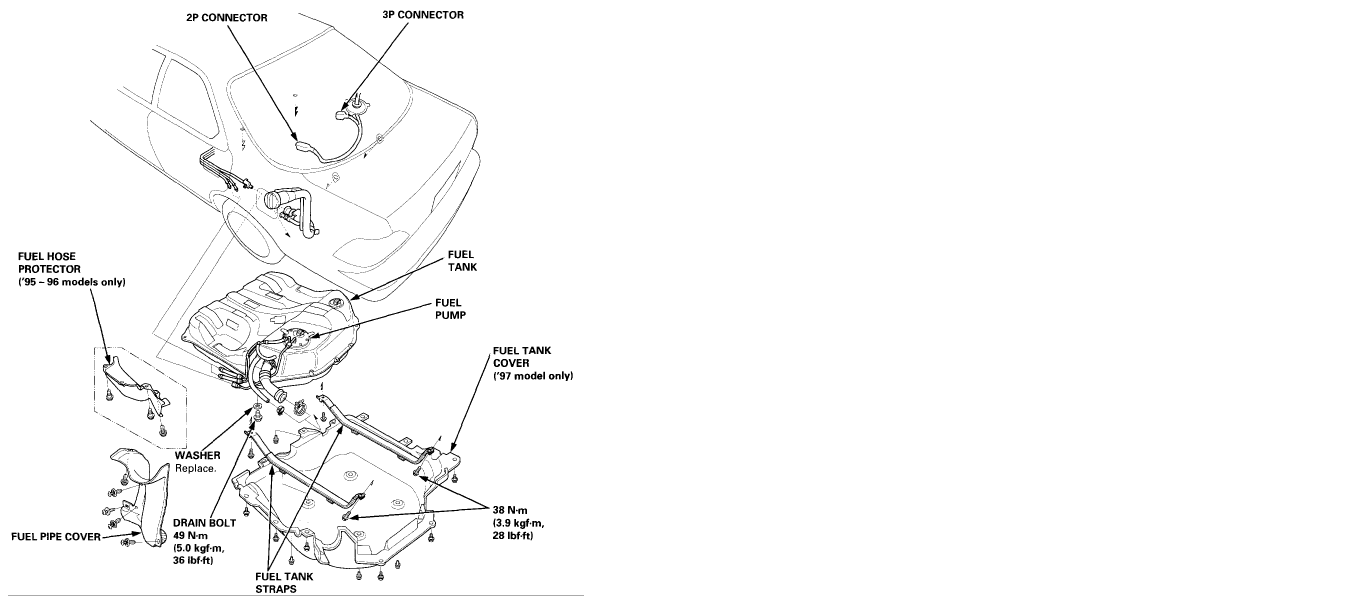 Service manual  How Do You Replace Fuel Pump 1997 Acura
