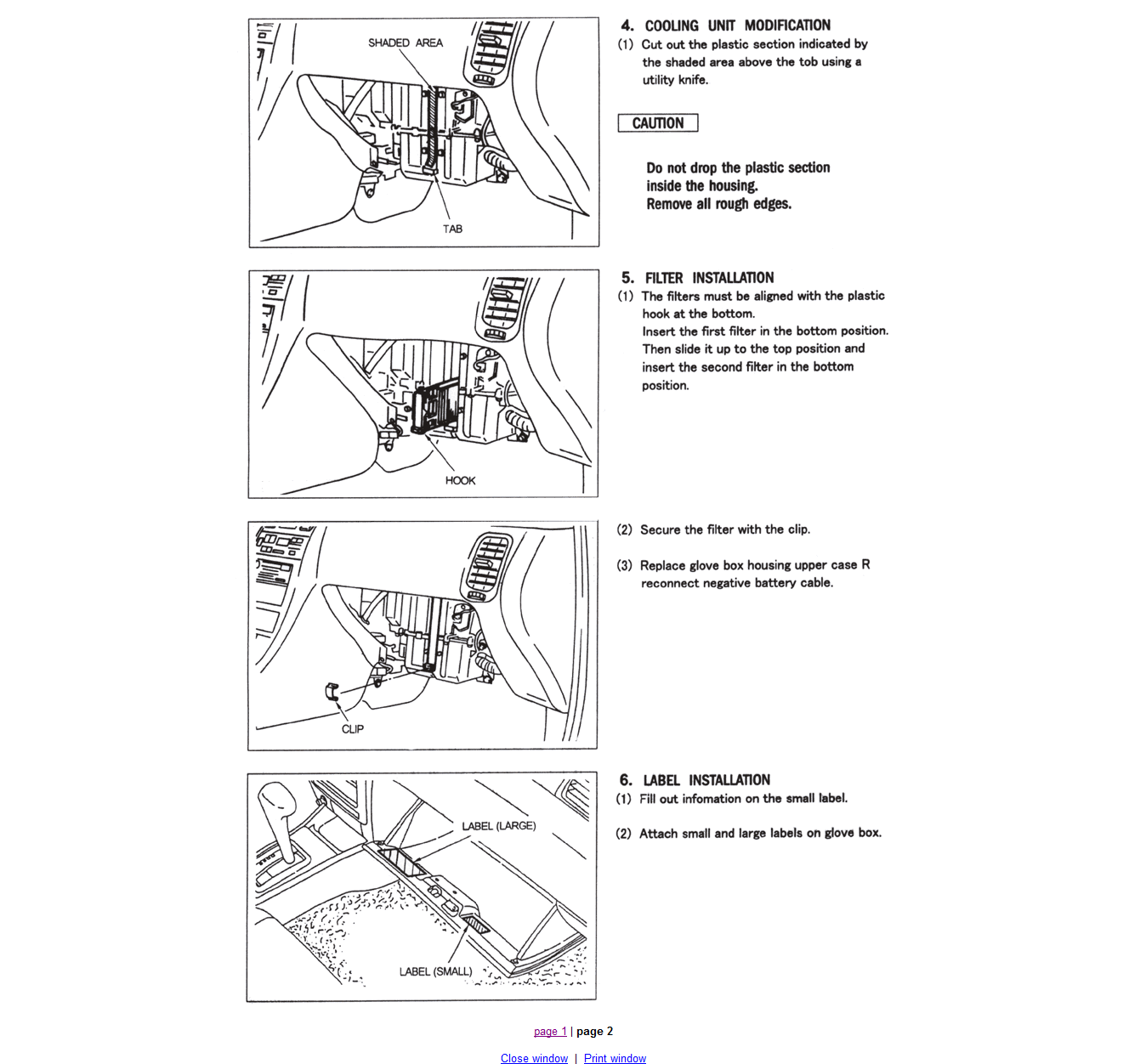 2009 nissan sentra cabin air filter diagram