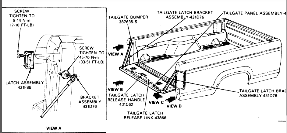 i need a diagram of the tailgate and rear hatch window