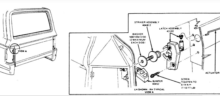 ford bronco rear hatch diagram html