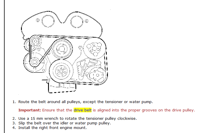 2003 saturn l300 3 0l v 6how do i replace the drive belt graphic