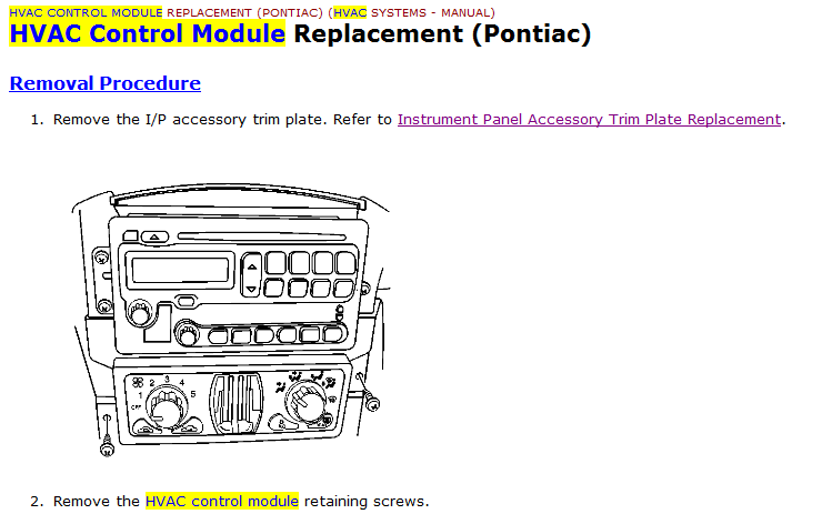 I Have A 2005 Pontiac Aztek  For Years  My Fan Blower